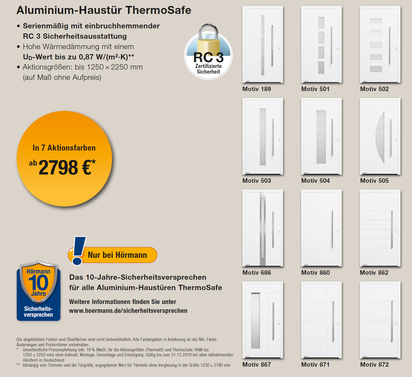 Haustüre ThermoSafe Aktion 2019