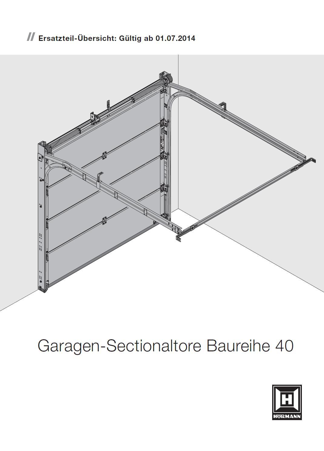 ersatzteile h rmann garagen sectionaltor lte 30 epu 40 lpu 30 ltf 40 bei tarotore. Black Bedroom Furniture Sets. Home Design Ideas